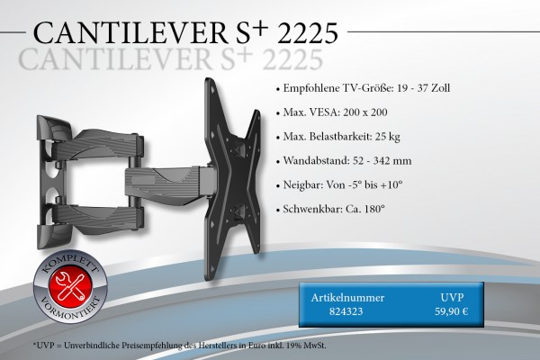 CANTILEVER S+ 2225